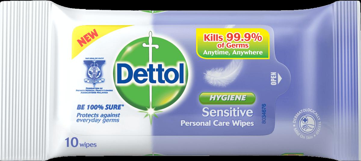 Dettol Antibacterial Wipes Sensitive